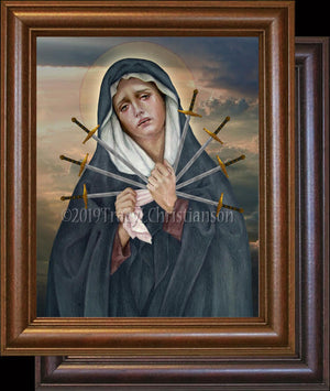 Seven Sorrows of Our Lady Framed