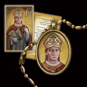 St. Thorlak Thorhallsson Pendant & Holy Card Gift Set