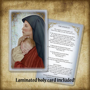 Madonna & Child (O) Plaque & Holy Card Gift Set