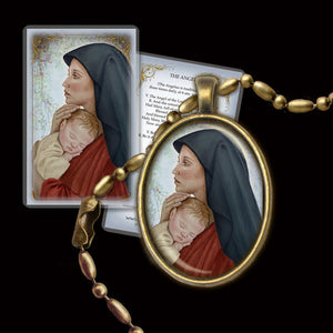 Madonna & Child (O) Pendant & Holy Card Gift Set