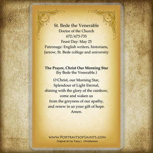 St. Bede the Venerable Holy Card