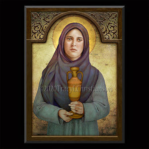 St. Sophia, Mother of Orphans Plaque & Holy Card Gift Set