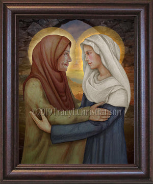 The Visitation of the Blessed Virgin Mary to St. Elizabeth Framed