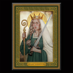 St. Winifred Plaque & Holy Card Gift Set