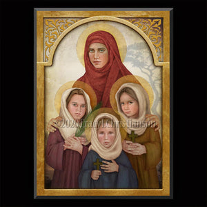 St. Sophia the Martyr Plaque & Holy Card Gift Set