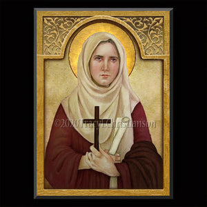 St. Phoebe Plaque & Holy Card Gift Set