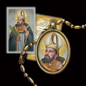 St. Erasmus of Formia Pendant & Holy Card Gift Set
