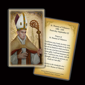 St. Thomas of Villanova Holy Card