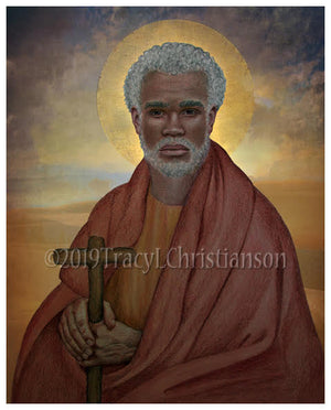 St. Moses the Black (The Ethiopian) Print