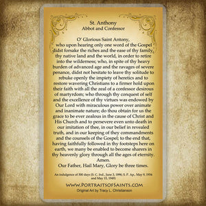 St. Anthony the Abbot Holy Card