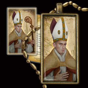 St. Thomas of Villanova Pendant & Holy Card Gift Set