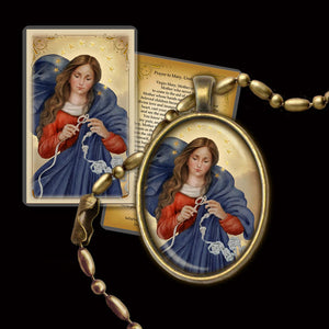 Our Lady Undoer of Knots Pendant & Holy Card Gift Set