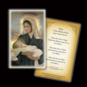 Madonna & Child (P) Holy Card