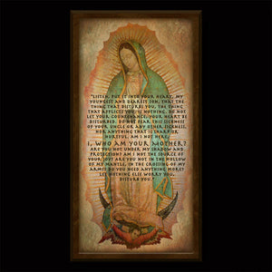 Our Lady of Guadalupe Inspirational Plaque