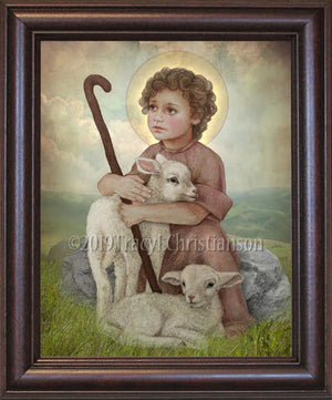 The Little Shepherd  Framed