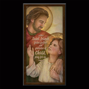 St. Joseph, Protector of Christ Inspirational Plaque