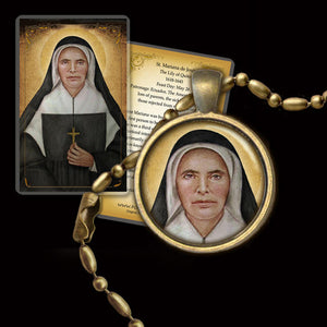 St. Theodore Guerin Pendant & Holy Card Gift Set