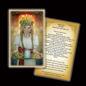St. Lucia Holy Card