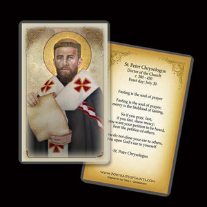 St. Peter Chrysologus Holy Card