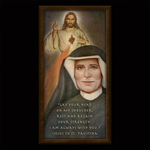 St. Faustina Inspirational Plaque