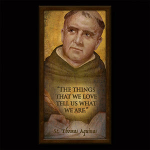St.Thomas Aquinas Inspirational Plaque