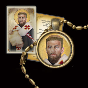 St. Peter Chrysologus Pendant & Holy Card Gift Set