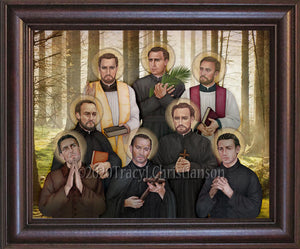 North American Martyrs Framed