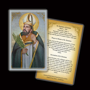 St. Erasmus of Formia Holy Card