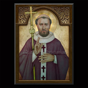 Pope St. Clement I Plaque & Holy Card Gift Set