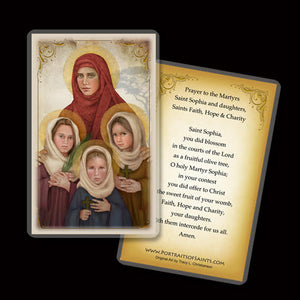 St. Sophia the Martyr Holy Card