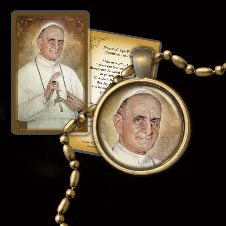 Bl. Pope Paul VI Pendant & Holy Card Gift Set