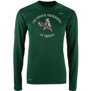 Augusta GreenJackets Nike Military Camo Long-Sleeve Legend Tee