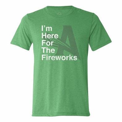 Here for Fireworks Tee - Green