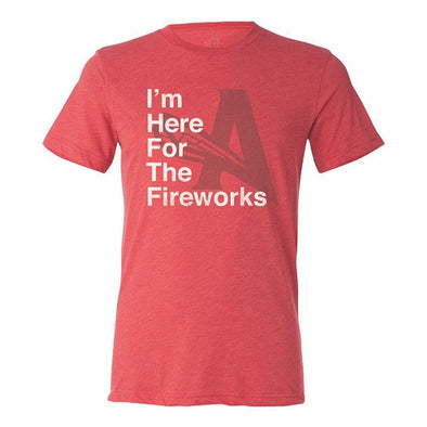 Here for Fireworks Tee - Red