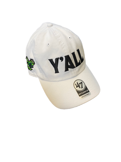 "GreenJackets ""Y'ALL"" Cap - White"