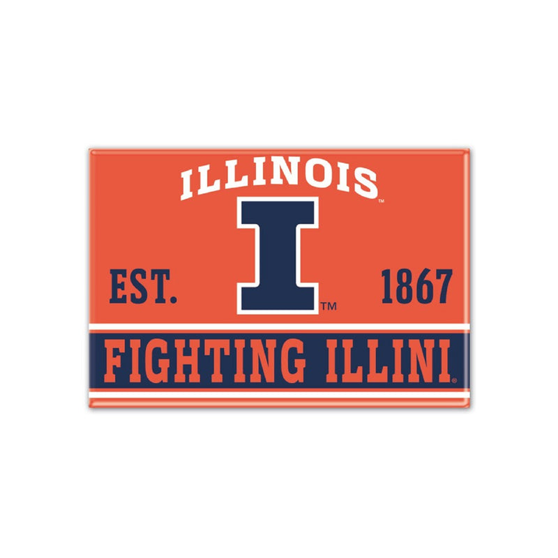 University of Illinois Fighting Illini Magnet - STL Authentics