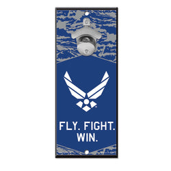 Air Force WinCraft 5x11 Bottle Opener Wood Sign | STL Authentics