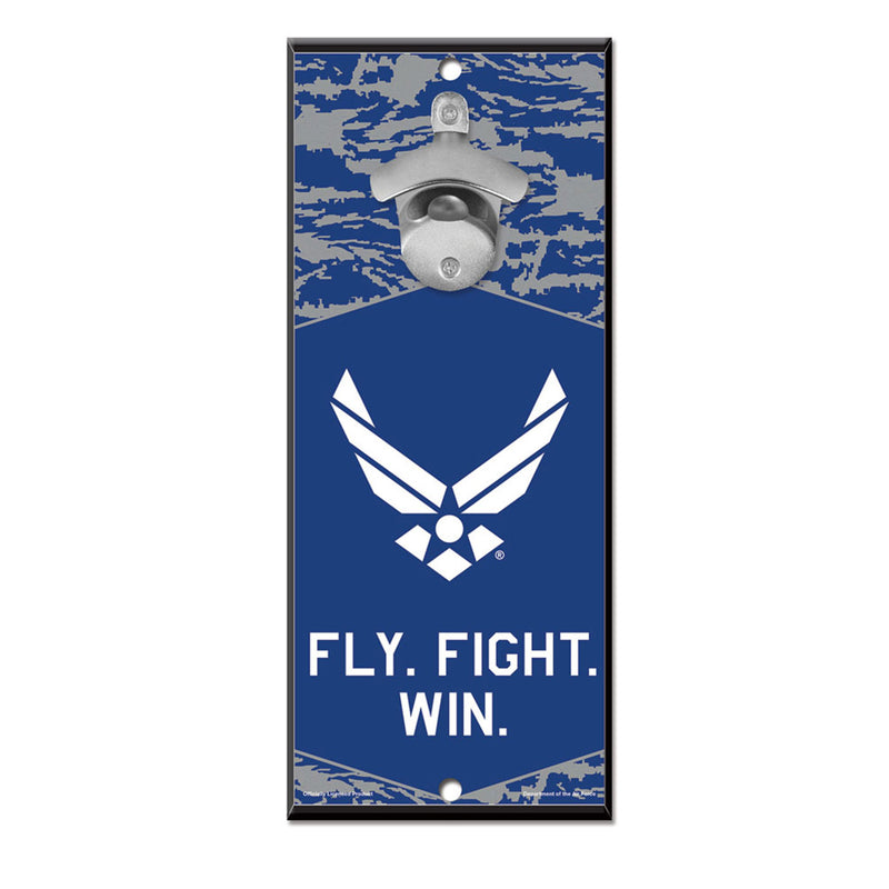 Air Force WinCraft 5x11 Bottle Opener Wood Sign - STL Authentics