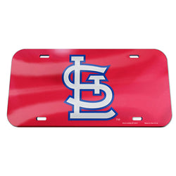 St. Louis Cardinals WinCraft Crystal Mirror Novelty License Plate - Red | STL Authentics