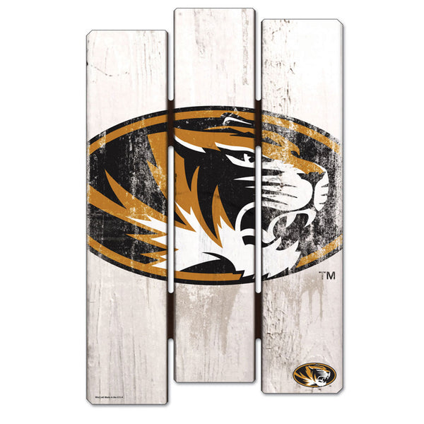 University of Missouri WinCraft 11x17 Wood Fence Sign - STL Authentics