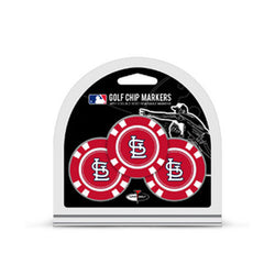 St. Louis Cardinals Team Golf 3-pack Ball Marker Golf Chips | STL Authentics