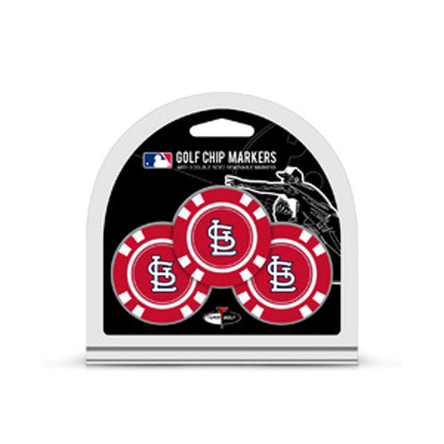 St. Louis Cardinals Team Golf 3-pack Ball Marker Golf Chips - STL Authentics
