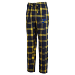 St. Louis Blues Concepts Sport Plaid Sleep Pants - Navy/Gold - STL Authentics