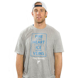 St. Louis Blues Play Bravely Charity Short Sleeve Tee - Grey | STL Authentics