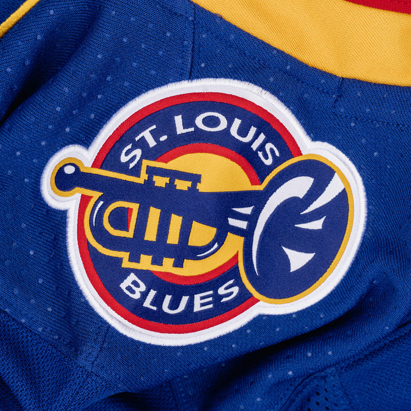 St. Louis Blues adidas Climalite Authentic Retro 90's Throwback Jersey - Blue/Red - STL Authentics