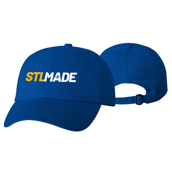 STL Made Slouch Wordmark Adjustable Strapback Cap - Royal | STL Authentics