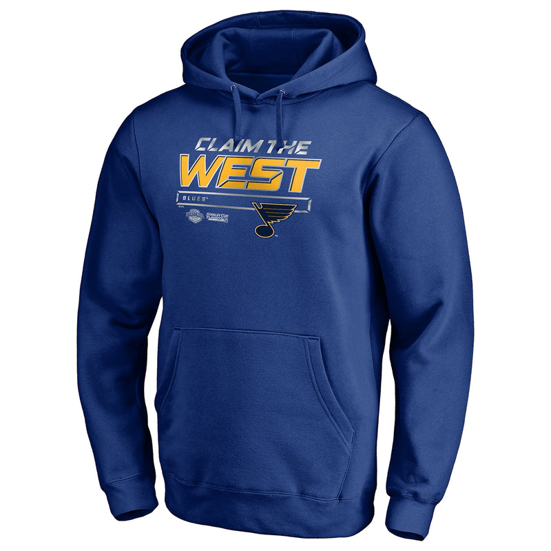 St. Louis Blues Fanatics Crease 2019 Western Conference Finals Claim the West Hoodie - Royal - STL Authentics