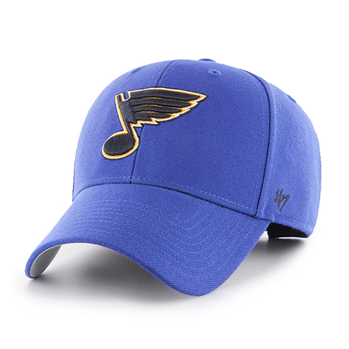 St. Louis Blues 47 Brand Note Logo Adjustable Clean-Up Cap - Royal | STL Authentics