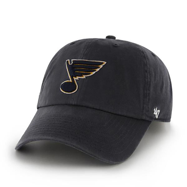 St. Louis Blues 47 Brand Note Logo Adjustable Clean-Up Cap - Navy - STL Authentics