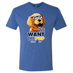 St. Louis Blues Fishbowl Hockey 2019 We Want the Pup Barclay Tri-blend Tee - Blue | STL Authentics